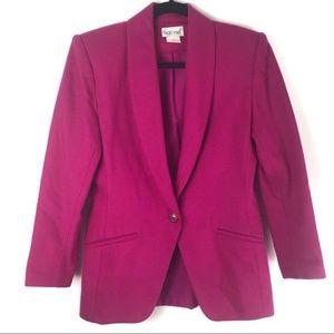 Vintage Pink Wool Blend Blazer 6